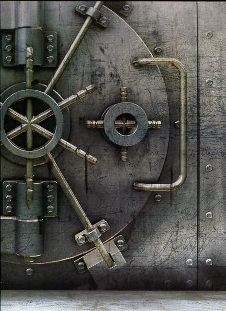 Steampunk Wall Mural Bank Vault Large G45261 By Galerie